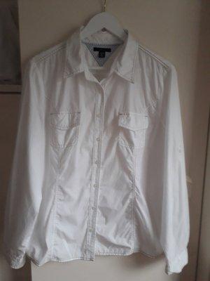 Tommy Hilfiger Hemdblouse wit-beige Katoen
