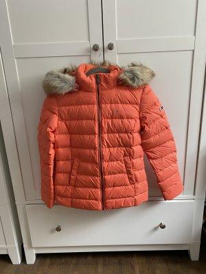 Tommy Jeans Down Jacket salmon-neon orange