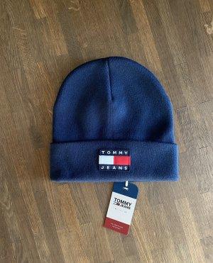Tommy Jeans Sombrero de punto azul-azul oscuro