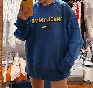 Tommy Hilfiger Oversized Sweater yellow-steel blue