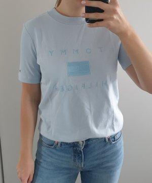 Tommy Hilfiger Tonal Tee T-Shirt mit Logo Stickerei hellblau