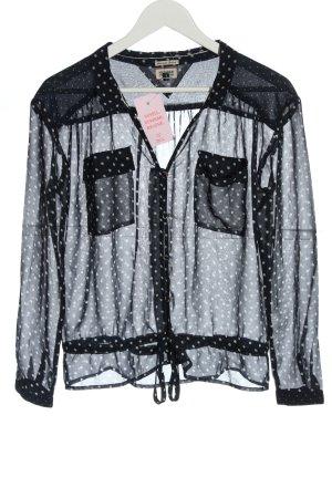 Tommy Hilfiger Transparenz-Bluse schwarz-weiß Punktemuster Casual-Look