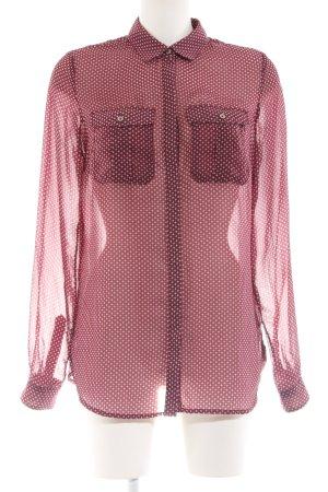 Tommy Hilfiger Transparenz-Bluse Allover-Druck schlichter Stil