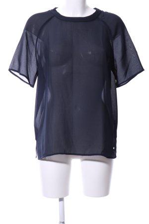 Tommy Hilfiger Transparenz-Bluse blau Party-Look