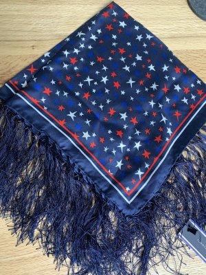Tommy Hilfiger Bufanda de flecos azul-rojo