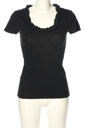 Tommy Hilfiger U-Boot-Shirt schwarz Casual-Look
