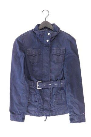 Tommy Hilfiger Übergangsjacke Größe M mit Gürtel blau aus Baumwolle
