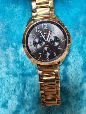 Tommy Hilfiger Reloj con pulsera metálica color oro-color rosa dorado