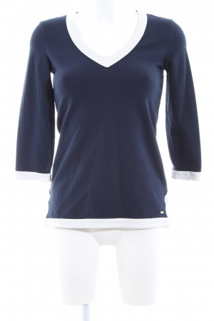 Tommy Hilfiger V-Neck Sweater blue-white business style
