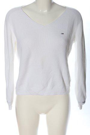 Tommy Hilfiger V-Ausschnitt-Pullover weiß Casual-Look