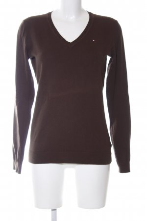 Tommy Hilfiger V-Neck Sweater brown casual look