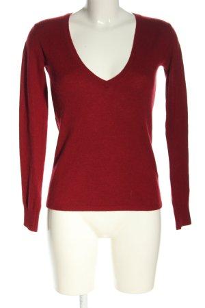 Tommy Hilfiger V-Ausschnitt-Pullover rot Business-Look