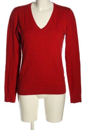 Tommy Hilfiger V-Ausschnitt-Pullover rot Casual-Look