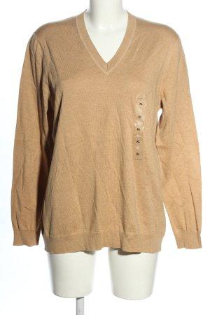 Tommy Hilfiger V-Ausschnitt-Pullover nude Casual-Look