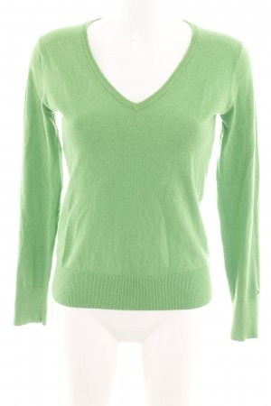 Tommy Hilfiger V-Neck Sweater green casual look