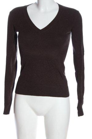 Tommy Hilfiger V-Ausschnitt-Pullover braun Casual-Look
