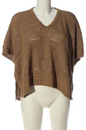 Tommy Hilfiger V-Ausschnitt-Pullover braun Elegant
