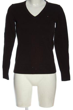 Tommy Hilfiger Sweter z dekoltem w kształcie litery V czarny W stylu casual