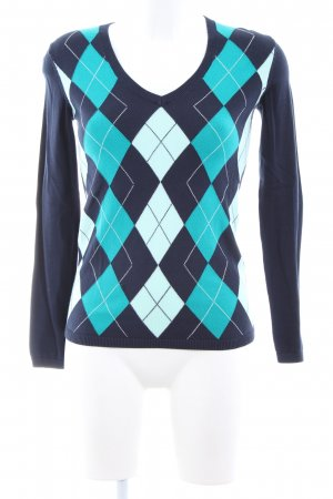 Tommy Hilfiger V-Neck Sweater blue-turquoise allover print casual look