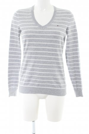 Tommy Hilfiger V-Neck Sweater light grey-white flecked business style