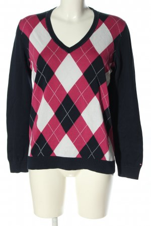 Tommy Hilfiger V-Ausschnitt-Pullover grafisches Muster Casual-Look