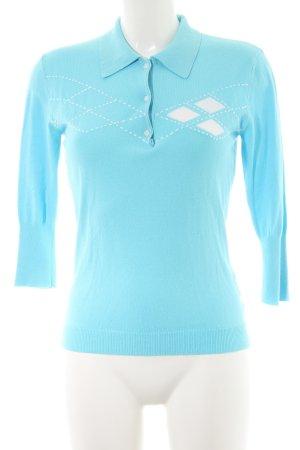 Tommy Hilfiger V-Ausschnitt-Pullover himmelblau-weiß Casual-Look