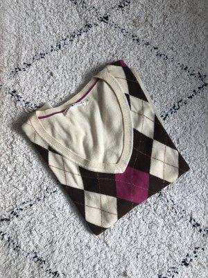 Tommy Hilfiger | V-Ausschnitt Pullover mit Rautenmuster