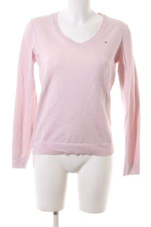 Tommy Hilfiger V-Ausschnitt-Pullover pink Business-Look