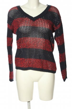 Tommy Hilfiger V-Ausschnitt-Pullover rot-blau Casual-Look