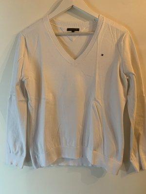Tommy Hilfiger V-Ausschnitt Pullover weiß