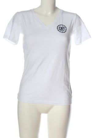 Tommy Hilfiger T-shirt col en V blanc style décontracté