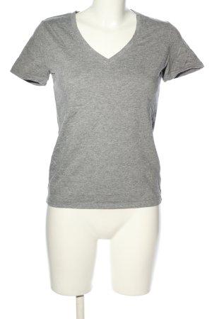 Tommy Hilfiger V-Ausschnitt-Shirt hellgrau meliert Casual-Look