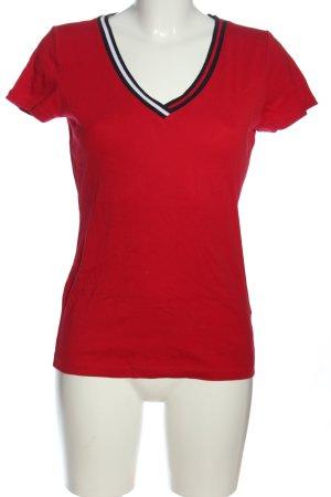 Tommy Hilfiger V-Ausschnitt-Shirt mehrfarbig Casual-Look