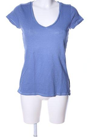 Tommy Hilfiger V-Ausschnitt-Shirt blau meliert Casual-Look