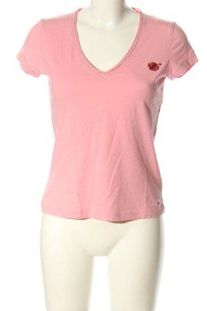 Tommy Hilfiger V-Ausschnitt-Shirt Motivdruck Casual-Look