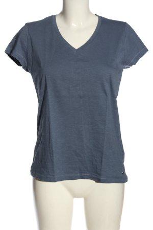 Tommy Hilfiger Koszulka z dekoltem w kształcie litery V niebieski Melanżowy