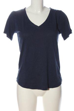 Tommy Hilfiger T-shirt col en V bleu style décontracté