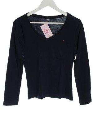 Tommy Hilfiger V-Neck Shirt black casual look