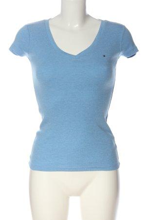 Tommy Hilfiger V-Ausschnitt-Shirt blau Casual-Look