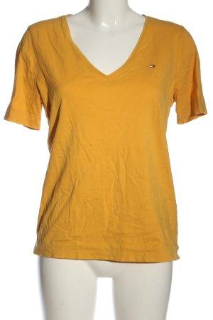 Tommy Hilfiger V-Ausschnitt-Shirt blassgelb Casual-Look