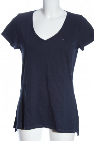 Tommy Hilfiger Camisa con cuello V azul look casual