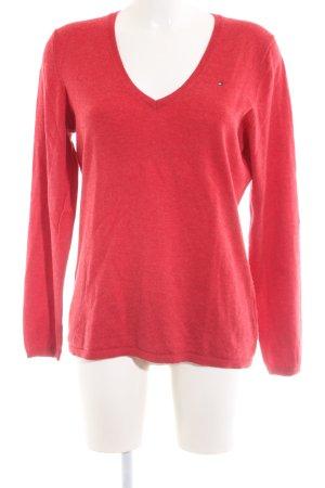 Tommy Hilfiger V-Ausschnitt-Shirt rot Casual-Look