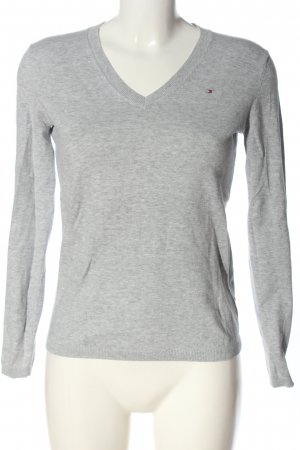 Tommy Hilfiger V-Neck Shirt light grey flecked casual look