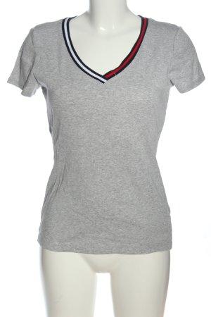 Tommy Hilfiger V-Ausschnitt-Shirt Streifenmuster Casual-Look