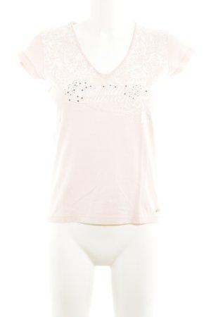 Tommy Hilfiger V-Ausschnitt-Shirt nude-weiß Casual-Look