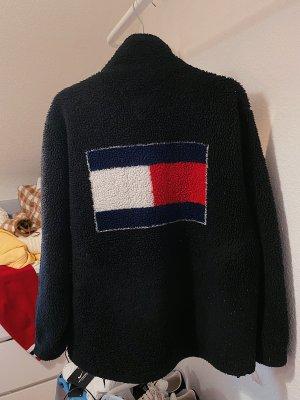 Tommy Hilfiger vintage Sherpa Jacke mit dem Logo