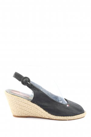 "Tommy Hilfiger Wedge Sandals ""656163c"" black"