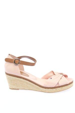 Tommy Hilfiger Wedges Sandaletten pink-braun Casual-Look