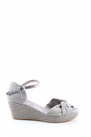 Tommy Hilfiger Wedge Sandals light grey casual look