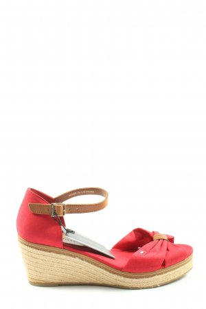 Tommy Hilfiger Wedges Sandaletten rot Casual-Look
